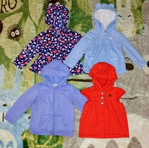 EUC Bundle of 4 Girl's 24 month Hoodies
